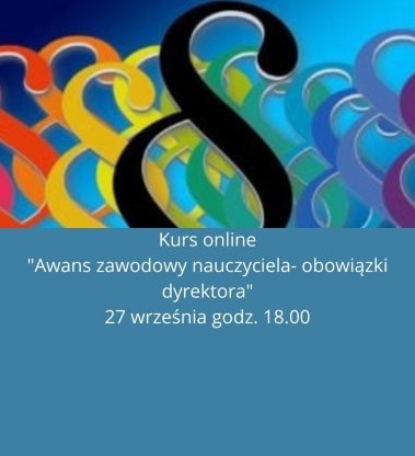 """Kurs online """"Awans zawodowy nauczyciela – obowiązki dyrektora"""""""