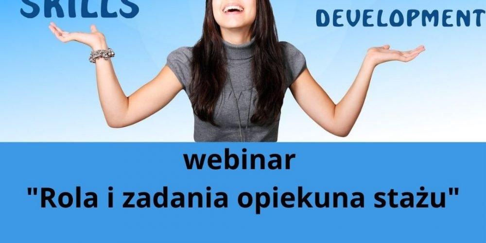 kurs online Rola i zadania opiekuna stażu 7 października godz. 18.00-2